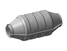 Нейтрализатор универсальный с каталитическим блоком 118,5х152,4 мм для автомобилей с бензиновым двигателем 2,5-3,7 л ЭМ.1206002.02.4 Евро-4