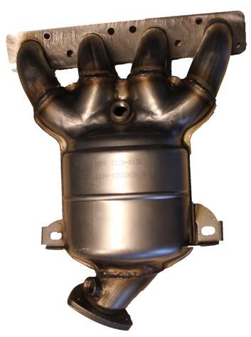 Труба приемная с нейтрализатором в сборе, ВАЗ 1118 (Лада Калина) ВАЗ 2170 (Лада Приора) для а/м с 16-ти клапанными двигателями /Евро-4, каталитический блок с керамическим носителем, URS 11194 Е4
