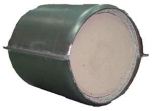 Универсальный нейтрализатор Ø 113 х 113  (400 ячеек) с дв. 1,6л Евро-4 на керамическом носителе URS 2120 Е4